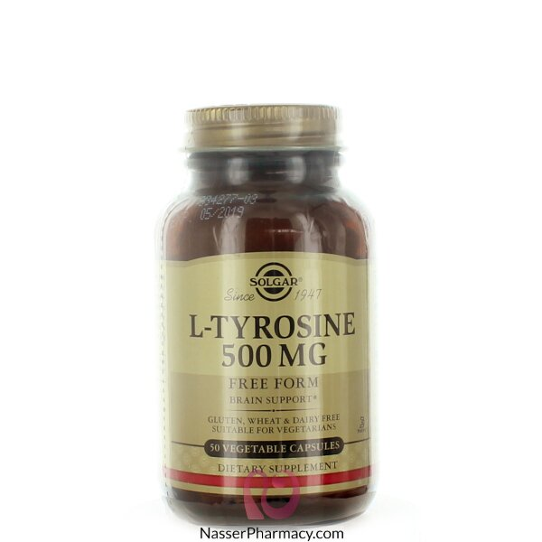Solgar L-tyrosine 500 Mg - 50 Veggie Caps