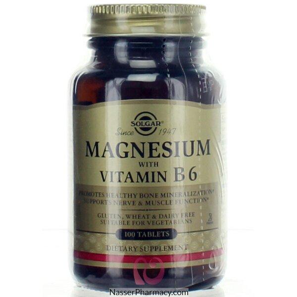 Solgar Magnesium+ B-6 Tab 100's