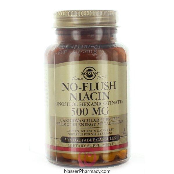Solgar No Flush Niacin Vegetable Capsules 500mg 50's