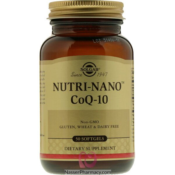 Solgar Nutri-nano Coq-10 3.1x  Dietary Supplement- 50 Softgels