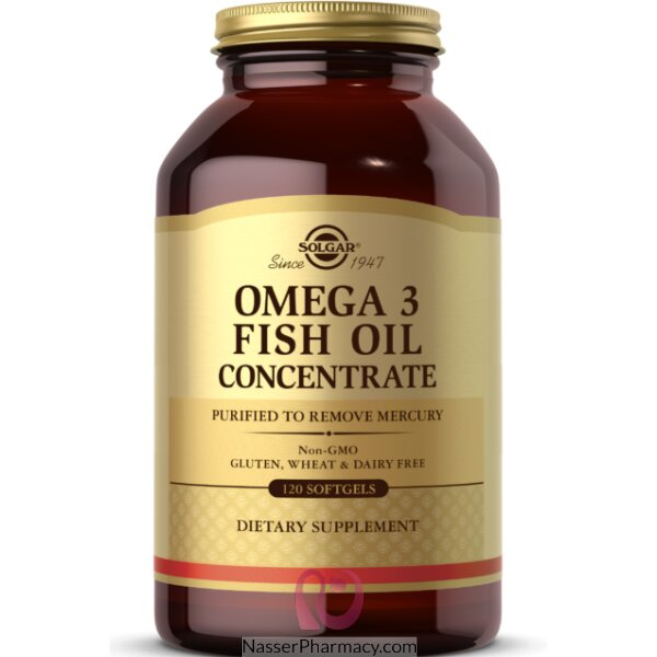 Solgar Omega-3 Fish Oil Concentrate - 120 Softgels