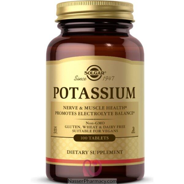 Solgar, Potassium, 100tablets