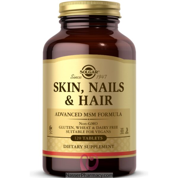 Solgar Skin Nails & Hair Advanced Msm Formula - 120 Tablets