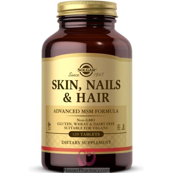 Solgar Skin Nails & Hair Advanced Msm Formula - 120 Tablets