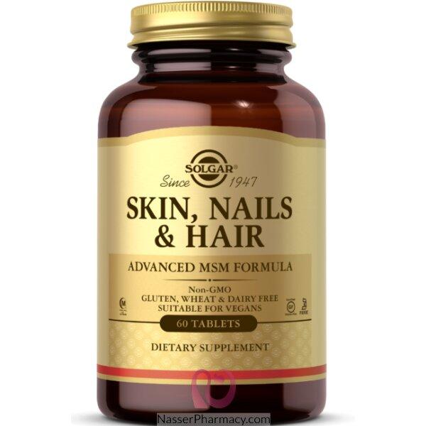 Solgar Skin Nails & Hair Advanced Msm Formula - 60 Tablets