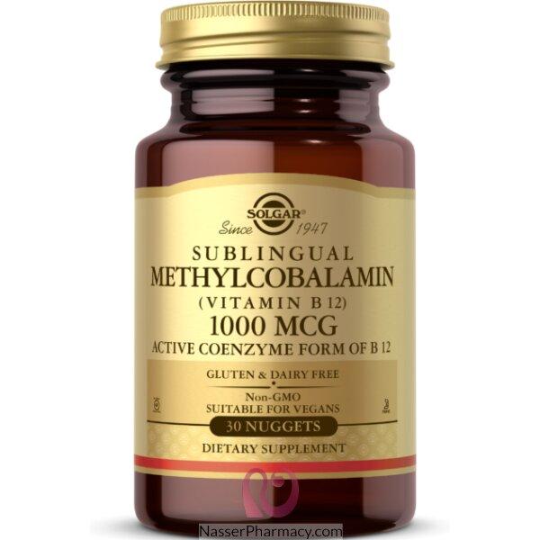 Solgar, Sublingual Methylcobalamin (vitamin B12), 1000 Mcg, 30 Nuggets