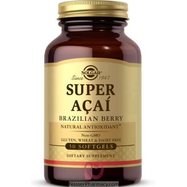 Solgar Super Acai Brazilian Berry - 50 Softgels