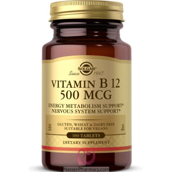 Solgar, Vitamin B12, 500 Mcg, 100 Tablets