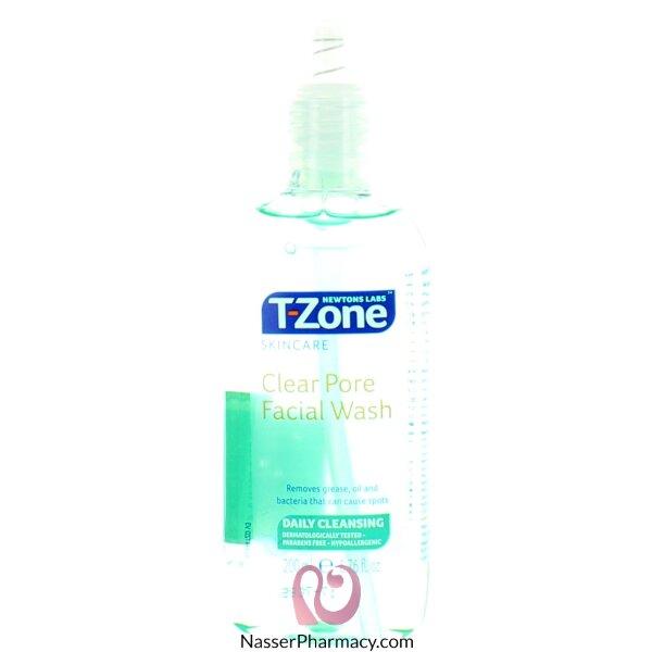 تى زون  T-zone  جل تنظيف ل مسام  الوجة 200 مل