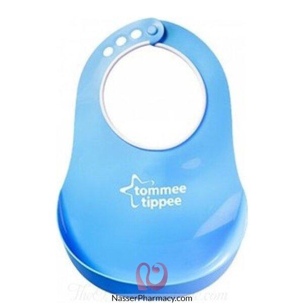 تومي تيبي  Tommee Tippee  المريلة المريحة للرقبة للمواليد   - أزرق
