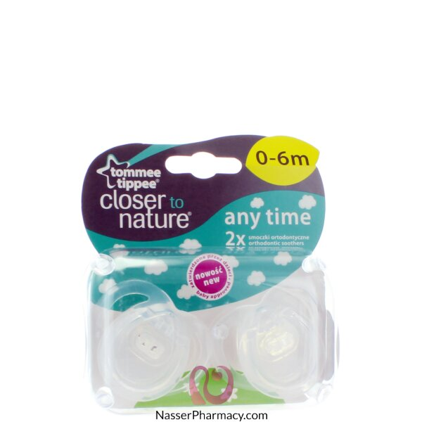 Tommee Tippee Closer To Nature Anytime Soother - 2 Pcs