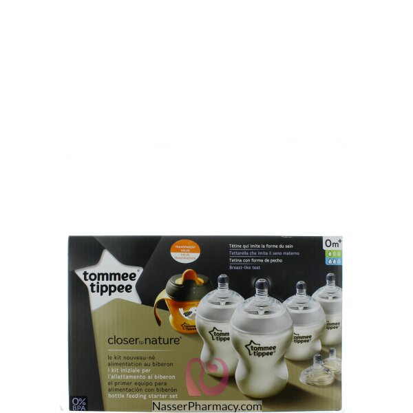 Tommee Tippee Closure To Nature Bottle Starter Kit-2*150..مل - 2*260