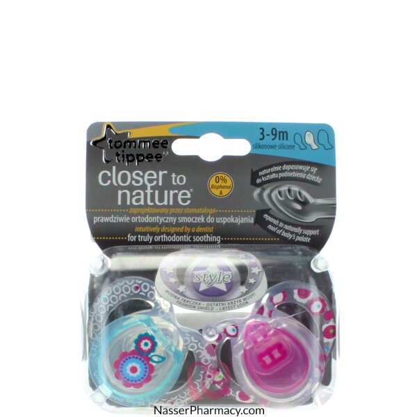 Tommee Tippee Closure To Nature Soother 3-9 Months - 2 Pcs