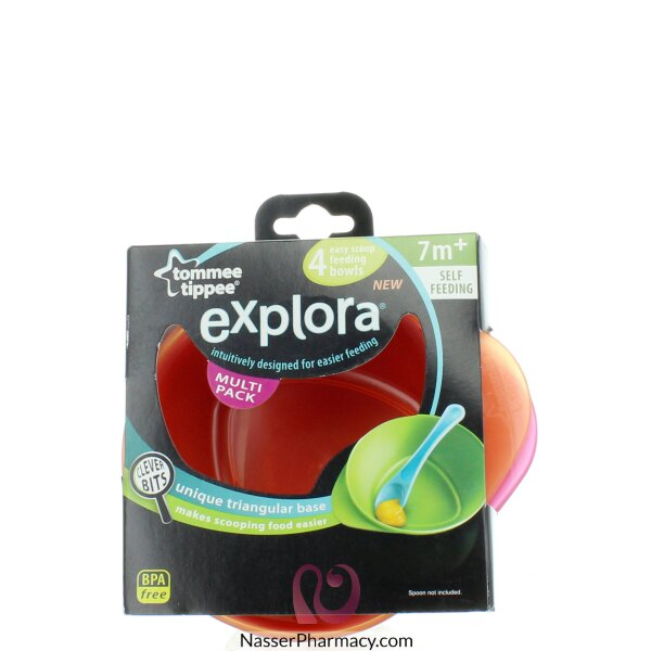 Tommee Tippee - Exp 4 X Feeding Bowls