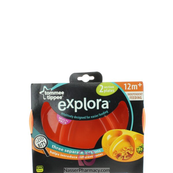 Tommee Tippee Explora Section Plates X2