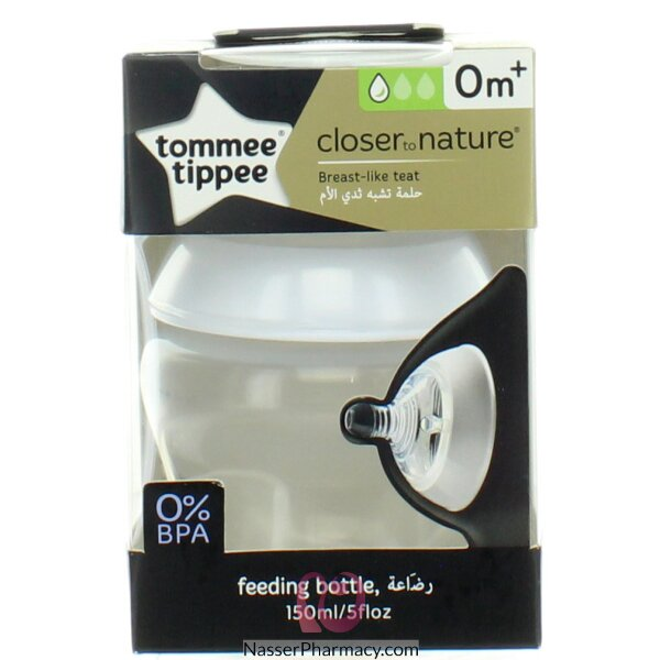 Tommee Tippee Feeding Bottle (150 Ml) Transparent