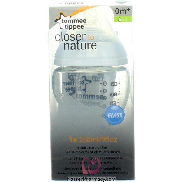 Tommee Tippee Glass Bottle  250ml X1