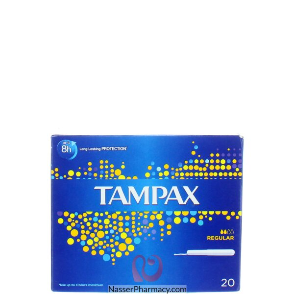 Tampax Cardboard Regular Applicator Tampons 20 S