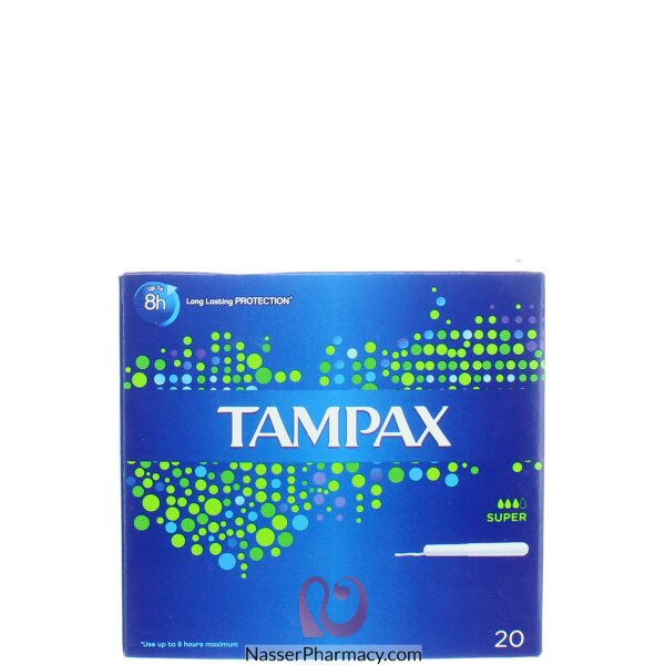 Tampax Cardboard Super Applicator Tampons 20 S