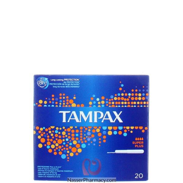 Tampax Cardboard Super Plus  Applicator Tampons 20 S