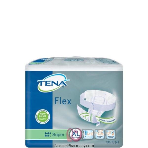 تينا فلكس Tena Flex  حفاضة للسيدات مع حزام مقاس كبير (اكس لارج) - 30 قطعة