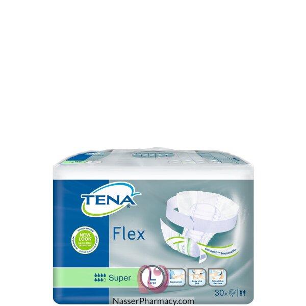 تينا فلكس Tena Flex  حفاضة للسيدات مع حزام مقاس كبير - 30 قطعة