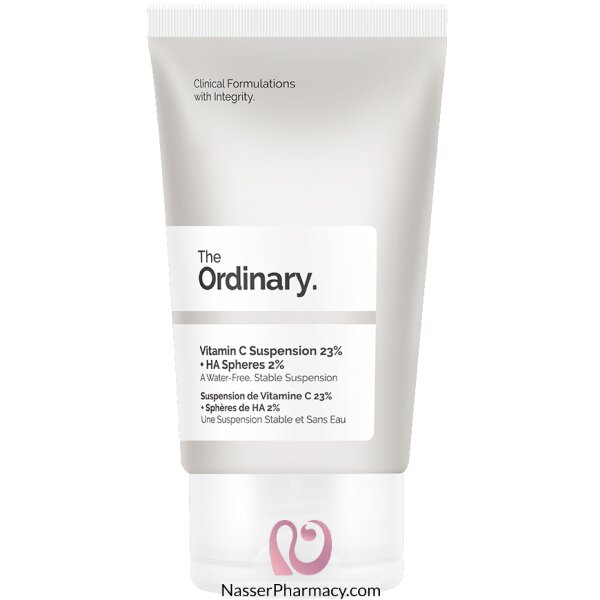 ذا أورديناري The Ordinary محلول فيتامين ج 23% + Ha Spheres 2%، حجم 30 ملل