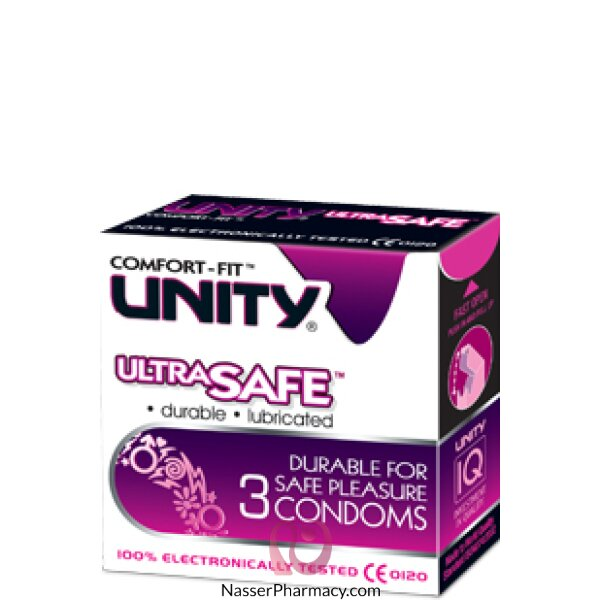 Unity Ultra Safe Condom - 3 Condoms