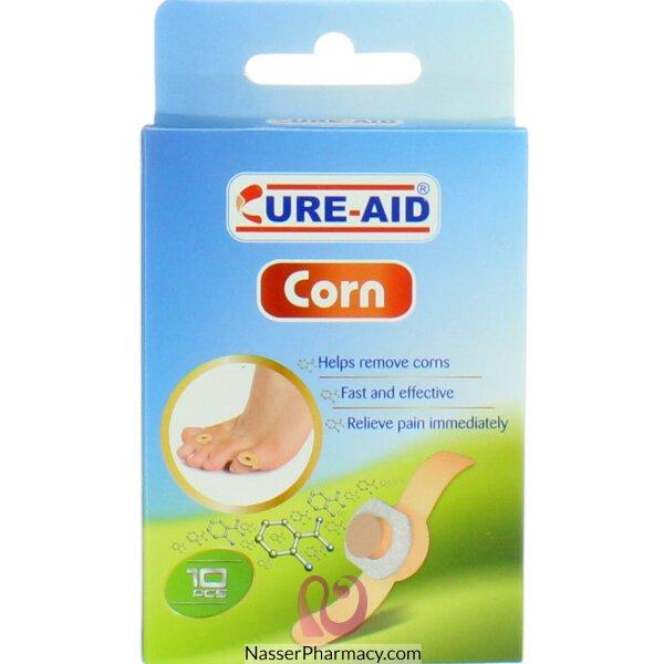 كيور ايد Cure-aid  أشرطة طبية لاصقة لإزالة مسمار القدم - 10 قطع