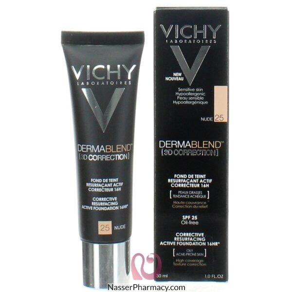 فيشى ( Vichy)  ديرمابلند تصحيح - ثلاثي الأبعاد كريم الأساس -25 Nude