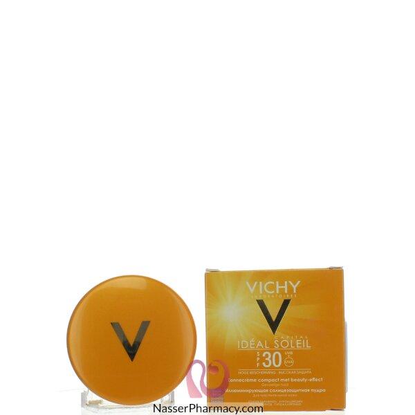 فيشى  (vichy Capital Soleil) كريم أساس مضغوط وقاية من الشمس درجة حماية +30 - 9 جم Gplden Beige