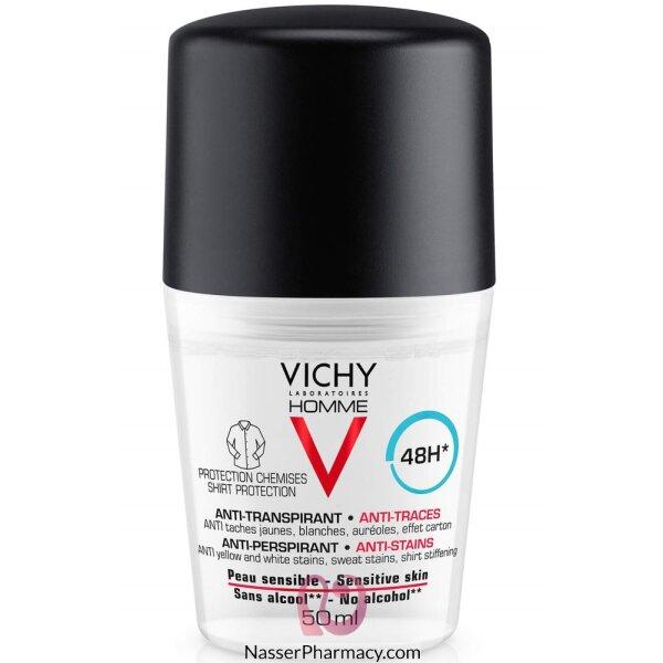 فيشي أوم Vichy Homme مزيل عرق مضاد للبقع  بحماية تدوم 48 ساعة 50 مل