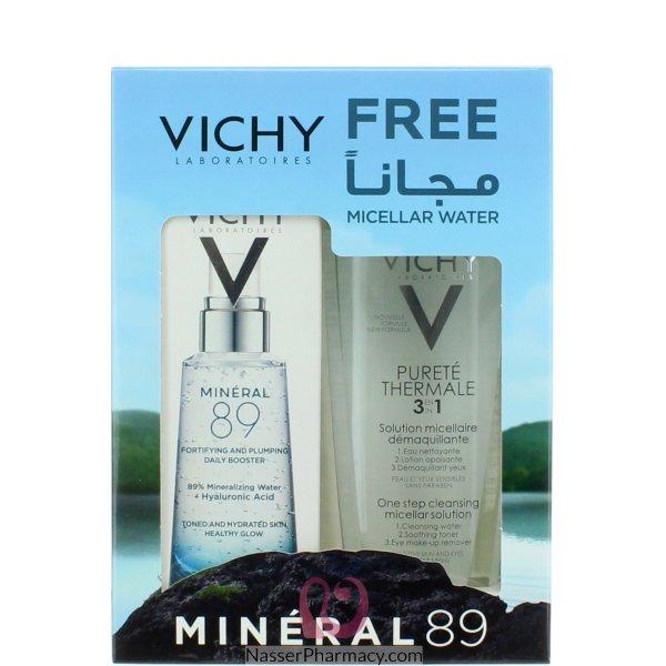 فيشي Vichy  ماء ميسلار + سيروم تعزيز البشرة مينيرال 89