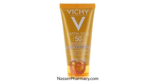 81b09c36b تسوق أونلاين فيشي (VICHY CAPITAL SOLEIL) كريم وقاية من الشمس درجة حماية +50  ملون - 50مل من صيدليات ناصر البحرين