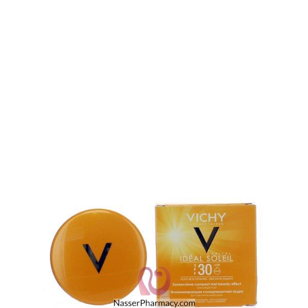 فيشي (vichy Idealsol ) كريم أساس مضغوط وقاية من الشمس درجة حماية +30 - 9 جم Gplden Beige