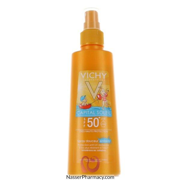فيشيvichy   إيديال سولاي  سبراي لطيف على بشرة الأطفال مع عامل وقاية من الشمس +spf 50