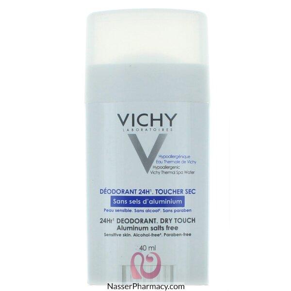 فيشيvichy ستيك مزيل العرق 24 ساعة مزيل للرائحة للبشرة الحساسة و المتضررة - 40مل