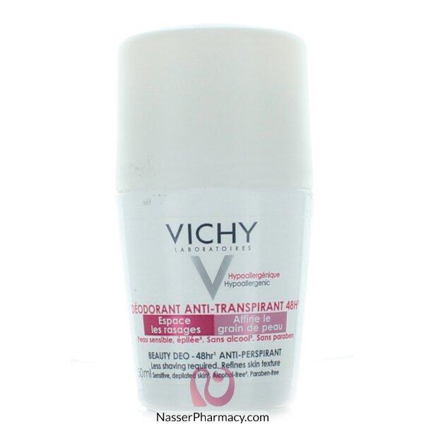 فيشيvichy   مزيل العرق  للبشرة الحساسة و المتضررة بيوتي ديو 48 ساعة  - 50مل