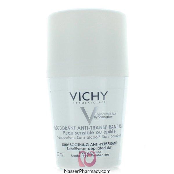 فيشيvichy  مزيل العرق ملطف 48 ساعة مزيل للرائحة - للبشرة الحساسة و المتضررة - 15مل