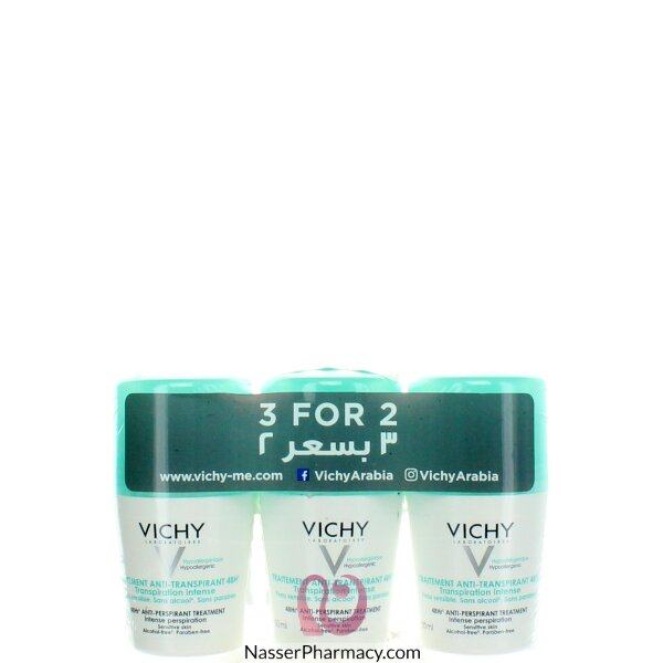 Vichy Deodorant 48-hour Intensive Anti-perspirant Treatment - Roll On (3 For 2 Promo )