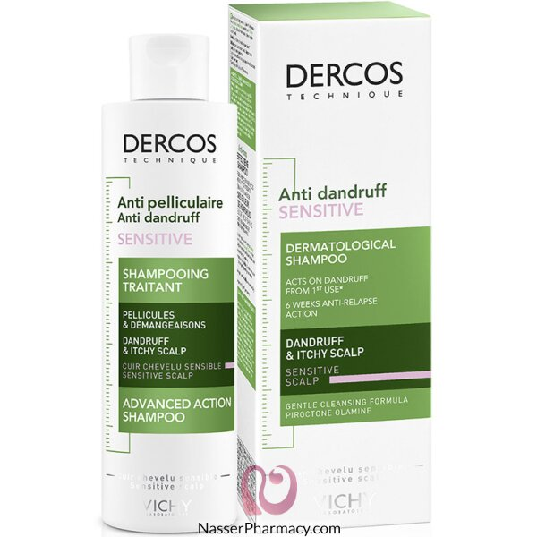 Vichy Dercos Anti-dandruff Shampoo For Sensitive Scalp - 200ml