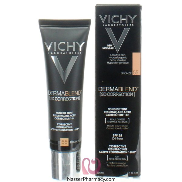 Vichy Dermablend 3d Correction Foundation -55 Bronz