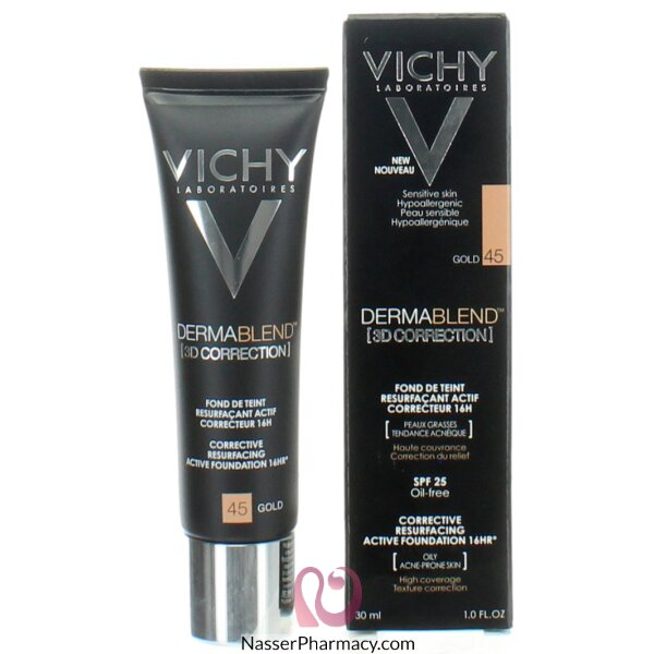 Vichy Dermablend 3d Correction Foundation  Gold 45
