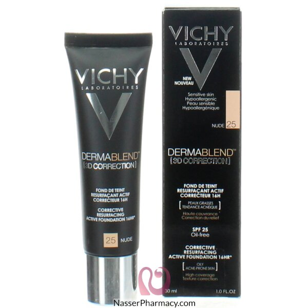 Vichy Dermablend 3d Correction Foundation Nude 25