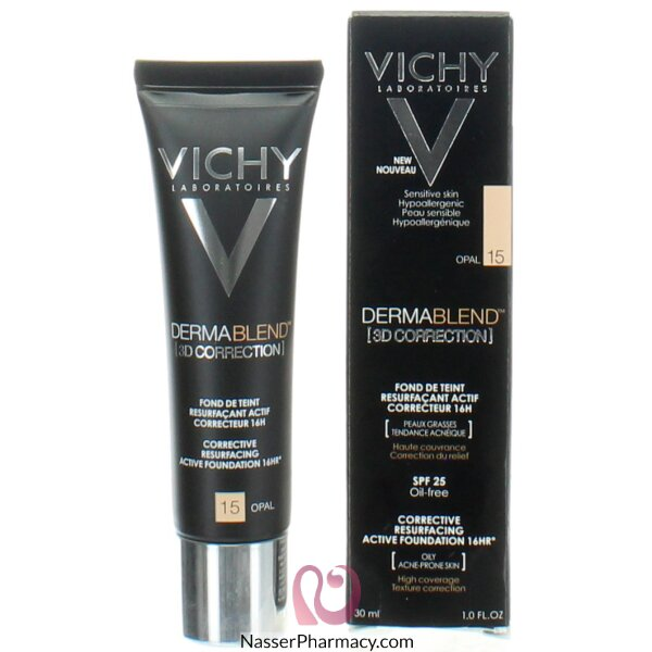 Vichy Dermablend 3d Correction Foundation Opal 15