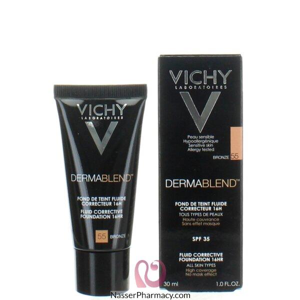 Vichy Dermablend Fluid Corrective Foundation 16hr Bronze 55