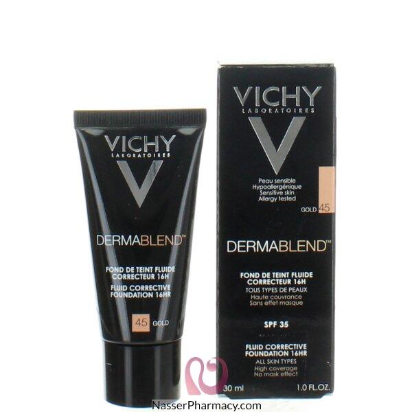 Vichy Dermablend Fluid Corrective Foundation 16hr -gold 45