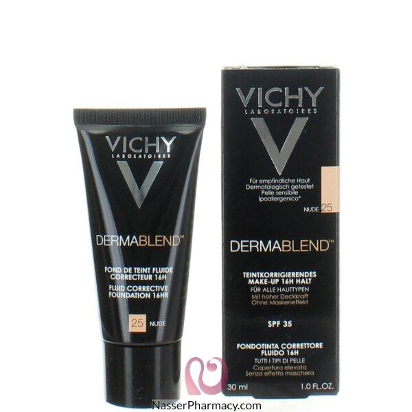 Vichy Dermablend Fluid Corrective Foundation 16hr- Nude 25