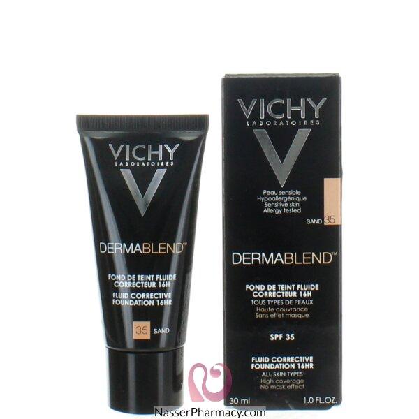 Vichy Dermablend Fluid Corrective Foundation 16hr  Sand 35