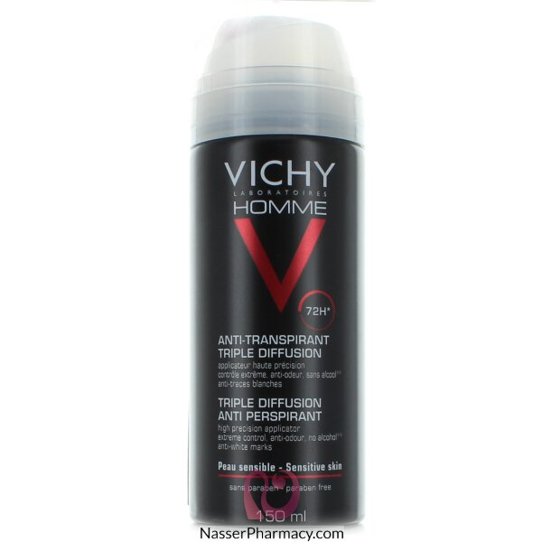 Vichy Homme Triple Diffusion Anti-perspirant For Men - 150ml